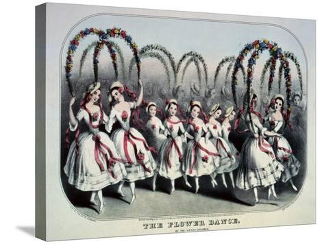 The Flower Dance-Currier & Ives-Stretched Canvas Print