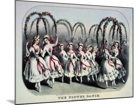 The Flower Dance-Currier & Ives-Mounted Giclee Print