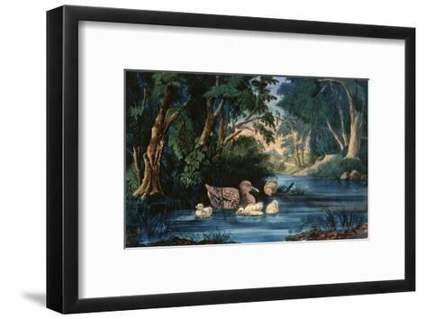 The Pond in the Woods-Currier & Ives-Framed Art Print