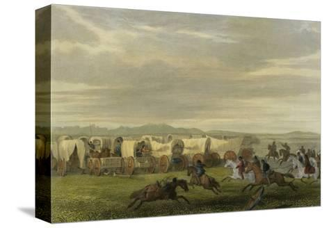 Emigrants Attacked by the Comanches-Seth Eastman-Stretched Canvas Print
