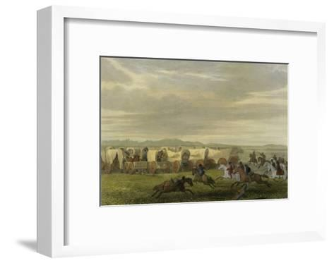 Emigrants Attacked by the Comanches-Seth Eastman-Framed Art Print