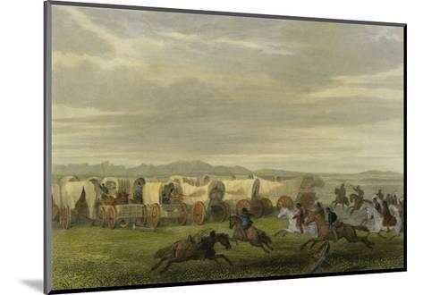 Emigrants Attacked by the Comanches-Seth Eastman-Mounted Giclee Print