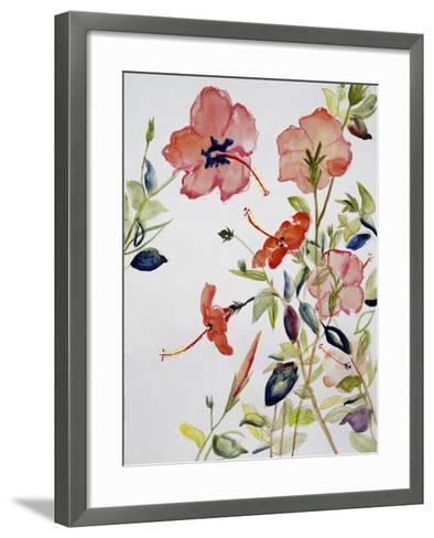 Hibiscus Flowerpiece-Sir Roy Calne-Framed Art Print