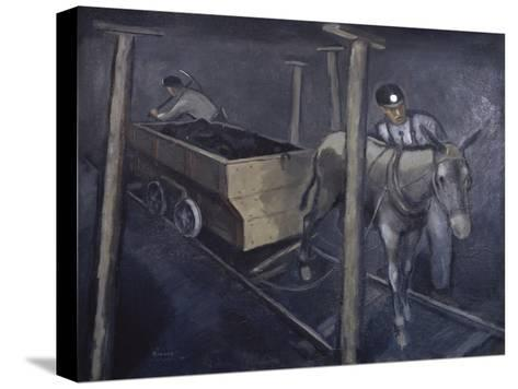 The Old Mine Mule-Richard Crist-Stretched Canvas Print