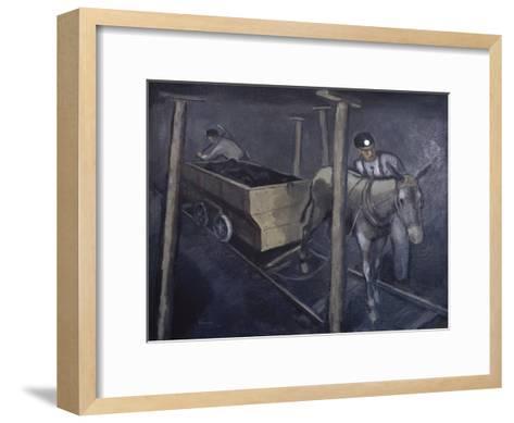 The Old Mine Mule-Richard Crist-Framed Art Print
