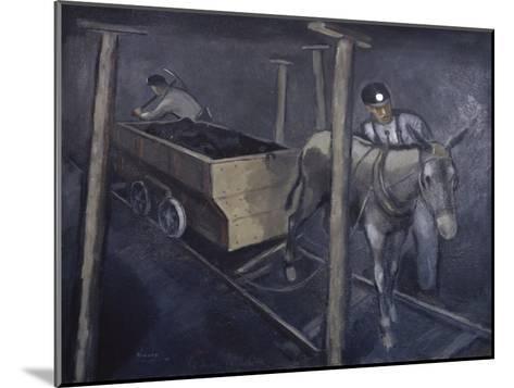 The Old Mine Mule-Richard Crist-Mounted Giclee Print