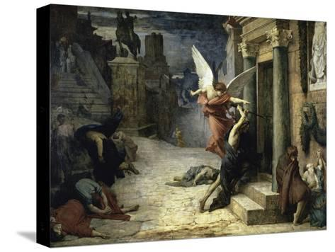 The Angel of Death; Peste a Roma-Jules Elie Delaunay-Stretched Canvas Print
