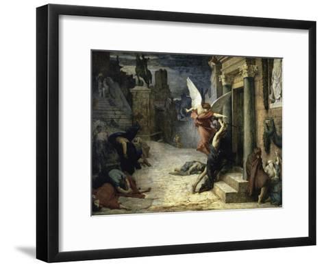 The Angel of Death; Peste a Roma-Jules Elie Delaunay-Framed Art Print