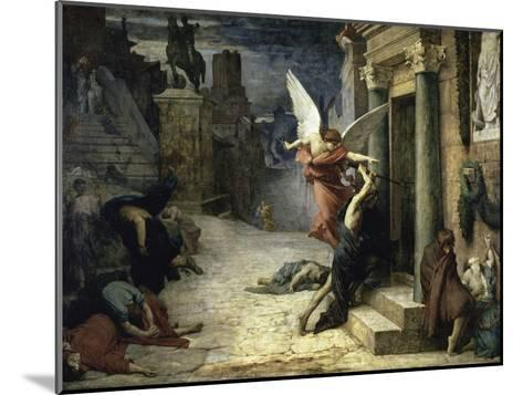 The Angel of Death; Peste a Roma-Jules Elie Delaunay-Mounted Giclee Print