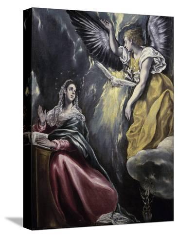 The Annunciation-El Greco-Stretched Canvas Print