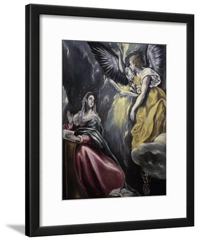 The Annunciation-El Greco-Framed Art Print