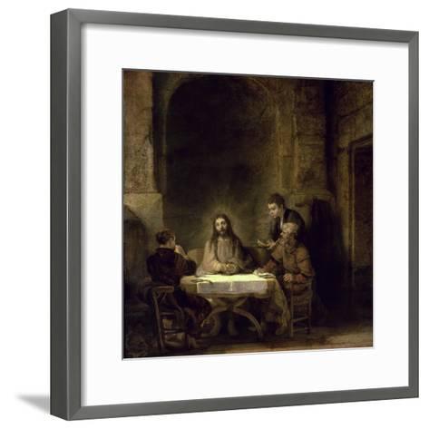 Supper at Emmaus-Rembrandt van Rijn-Framed Art Print