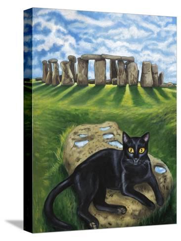 European Cat at Stonehenge/Great Britain-Isy Ochoa-Stretched Canvas Print
