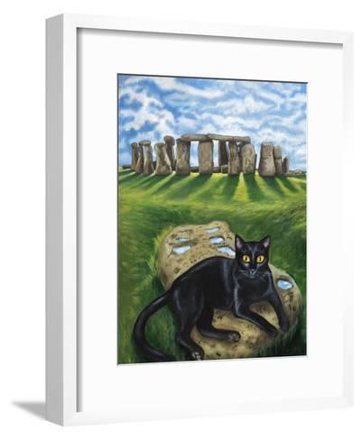 European Cat at Stonehenge/Great Britain-Isy Ochoa-Framed Art Print