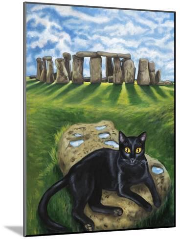 European Cat at Stonehenge/Great Britain-Isy Ochoa-Mounted Giclee Print