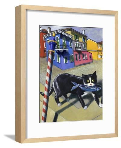 Cat of Burano (Chat de Burano)-Isy Ochoa-Framed Art Print