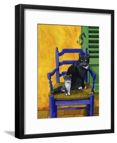 Cats of Provence (Chats de Provence)-Isy Ochoa-Framed Art Print