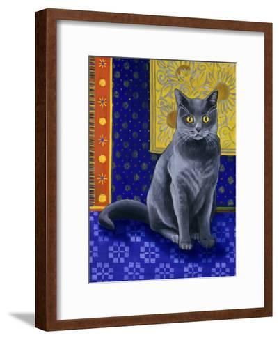 Chat Chartreux, Series I-Isy Ochoa-Framed Art Print