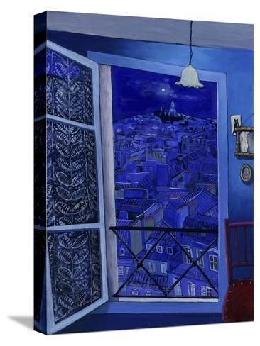 View on Montmartre (Vue Sur Montmartre)-Isy Ochoa-Stretched Canvas Print