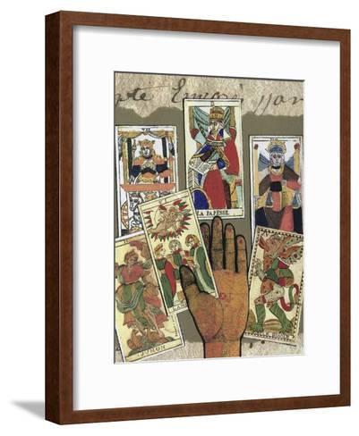 Fate Plays a Hand-Gerry Charm-Framed Art Print