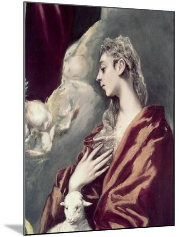 Madonn and Child with St. Agnes and St. Martina-El Greco-Mounted Giclee Print