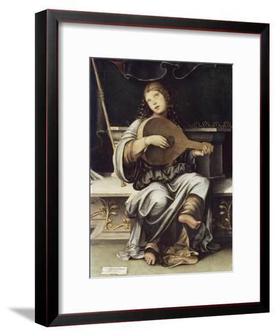 Girl with a Lute-Francesco Francia-Framed Art Print