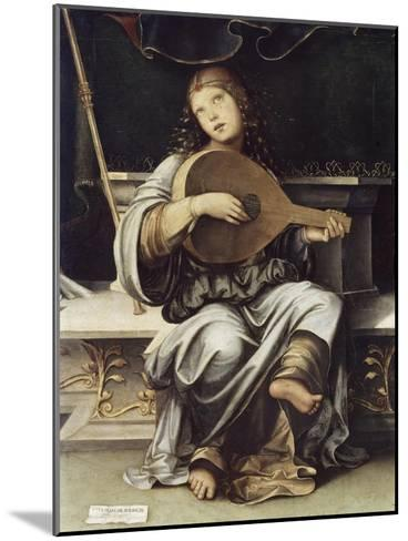 Girl with a Lute-Francesco Francia-Mounted Giclee Print
