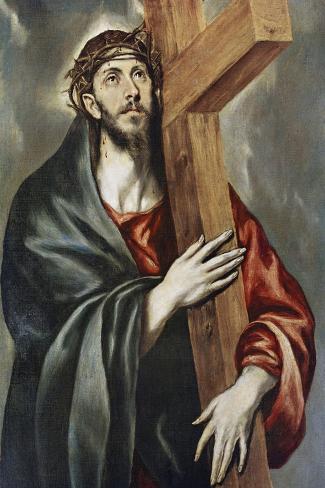 Via Crucis-El Greco-Stretched Canvas Print