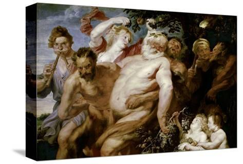 Drunken Silenus Supported by Satyrs-Sir Anthony Van Dyck-Stretched Canvas Print