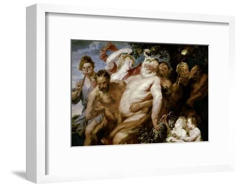 Drunken Silenus Supported by Satyrs-Sir Anthony Van Dyck-Framed Art Print
