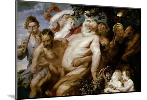 Drunken Silenus Supported by Satyrs-Sir Anthony Van Dyck-Mounted Giclee Print