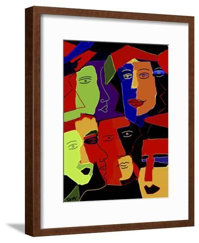 Paperheads-Diana Ong-Framed Art Print
