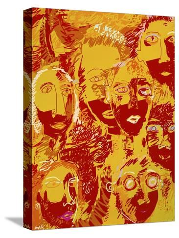 Faces: Yellow and Red-Diana Ong-Stretched Canvas Print