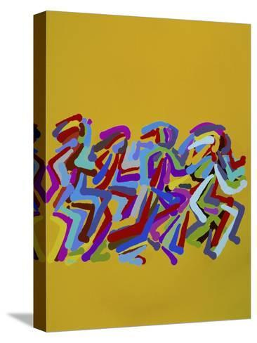 Runners II-Diana Ong-Stretched Canvas Print
