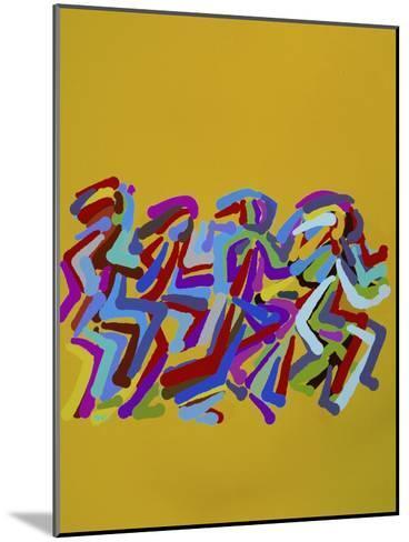 Runners II-Diana Ong-Mounted Giclee Print