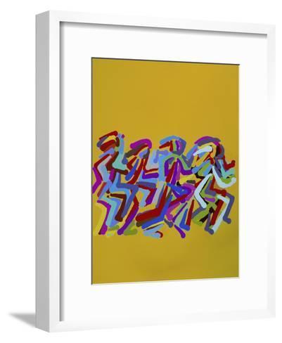 Runners II-Diana Ong-Framed Art Print