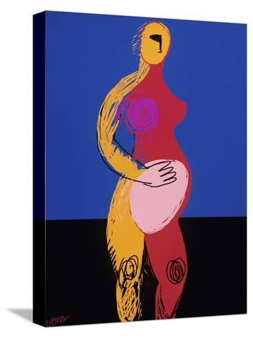 Woman in Labor-Diana Ong-Stretched Canvas Print