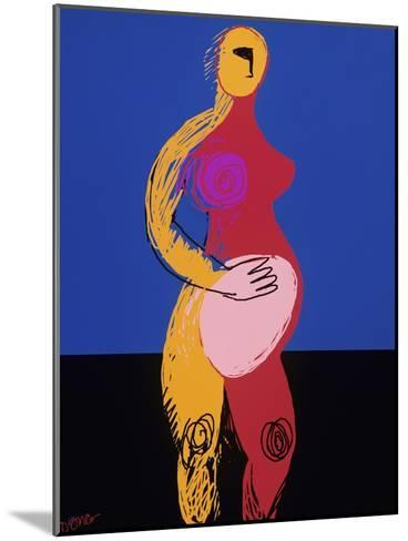 Woman in Labor-Diana Ong-Mounted Giclee Print