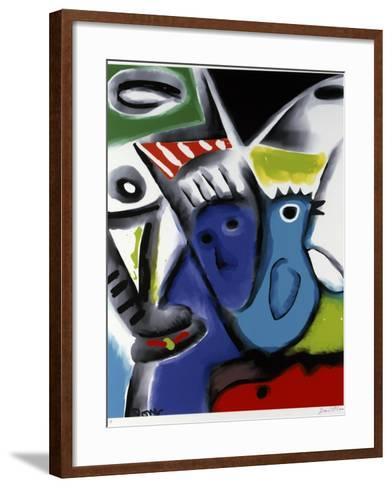 Blue Bird-Diana Ong-Framed Art Print