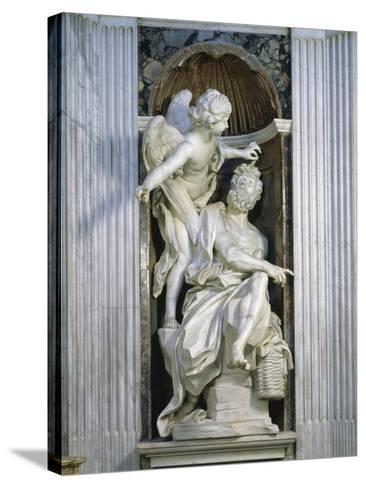 Abacuc and the Angel-Giovanni Lorenzo Bernini-Stretched Canvas Print