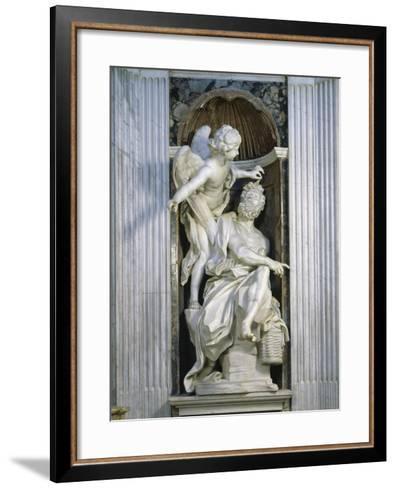 Abacuc and the Angel-Giovanni Lorenzo Bernini-Framed Art Print
