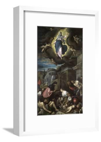 Saint Roch Visiting the Plague Victims-Jacopo Bassano-Framed Art Print