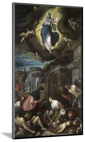 Saint Roch Visiting the Plague Victims-Jacopo Bassano-Mounted Giclee Print