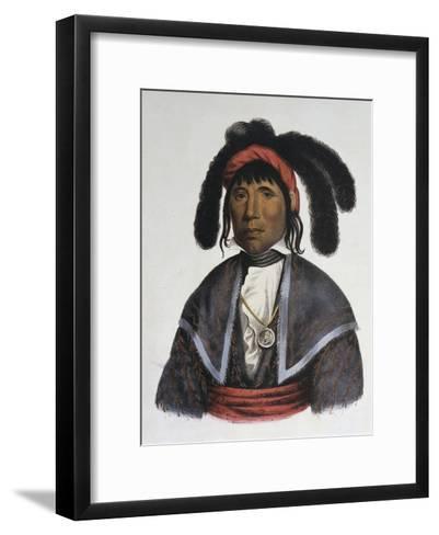 Micanopy (Seminole Chief)-Charles Bird King-Framed Art Print