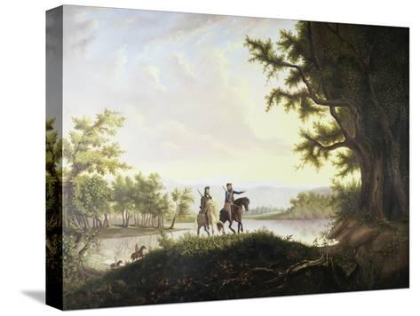 Lewis and Clark Expedition-Thomas Mickell Burnham-Stretched Canvas Print