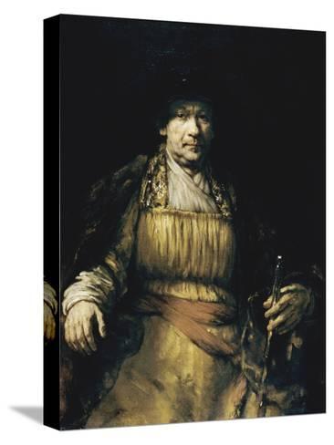 Self Portrait-Rembrandt van Rijn-Stretched Canvas Print