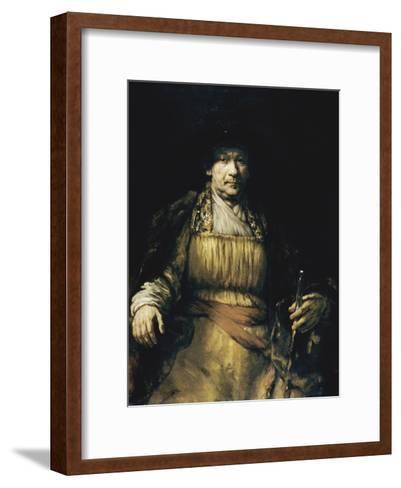 Self Portrait-Rembrandt van Rijn-Framed Art Print