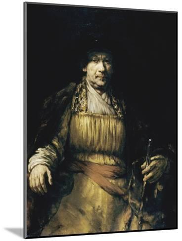 Self Portrait-Rembrandt van Rijn-Mounted Giclee Print