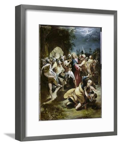 Capture of Christ-Giuseppe Cesari Arpino-Framed Art Print