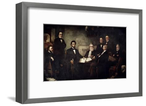 The First Reading of the Emancipation Proclamation-Francis Bicknell Carpenter-Framed Art Print